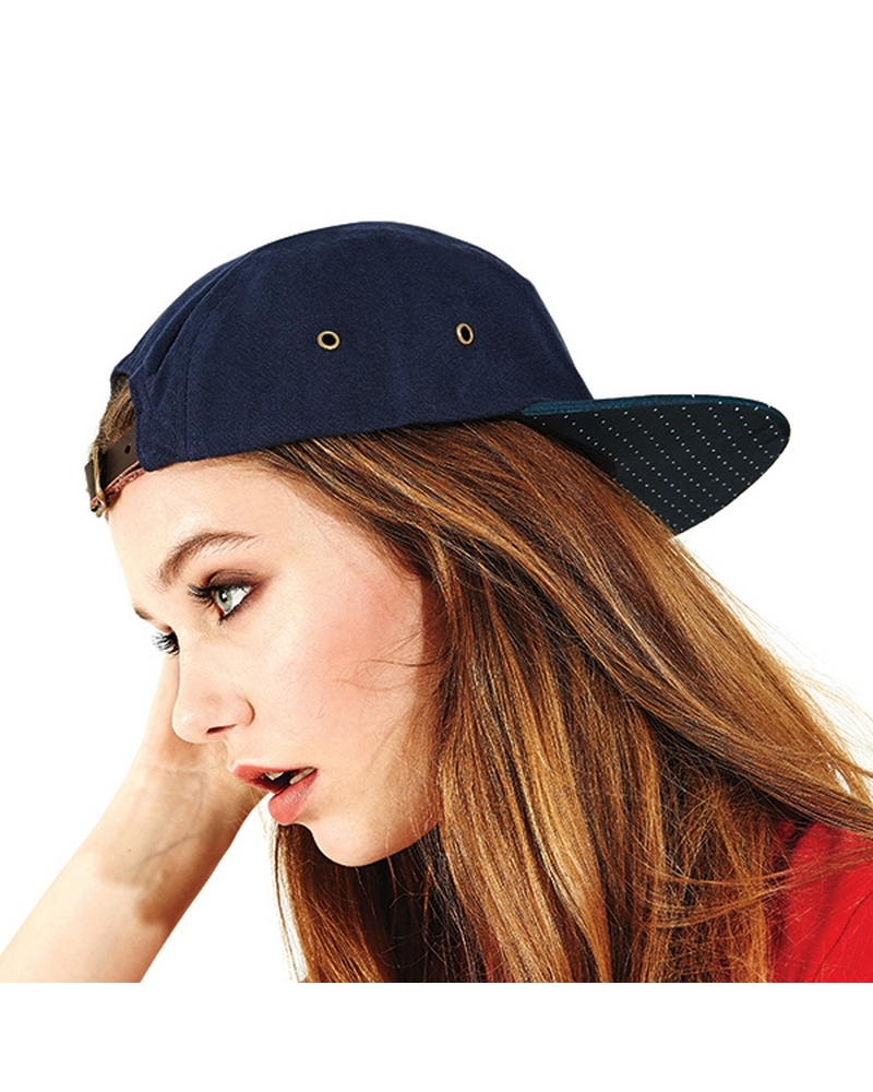 B886 - Graphic Peak 5 Panel Cap