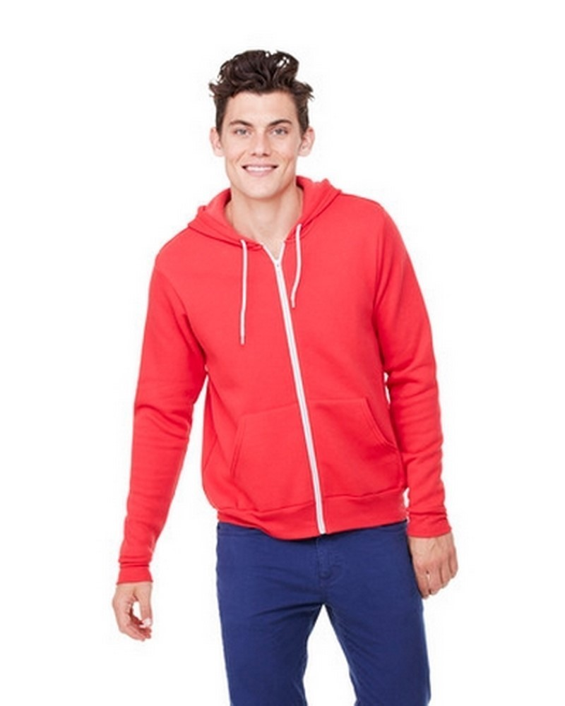 BE3739 - Unisex Poly-Cotton Fleece Full-Zip Hoodie