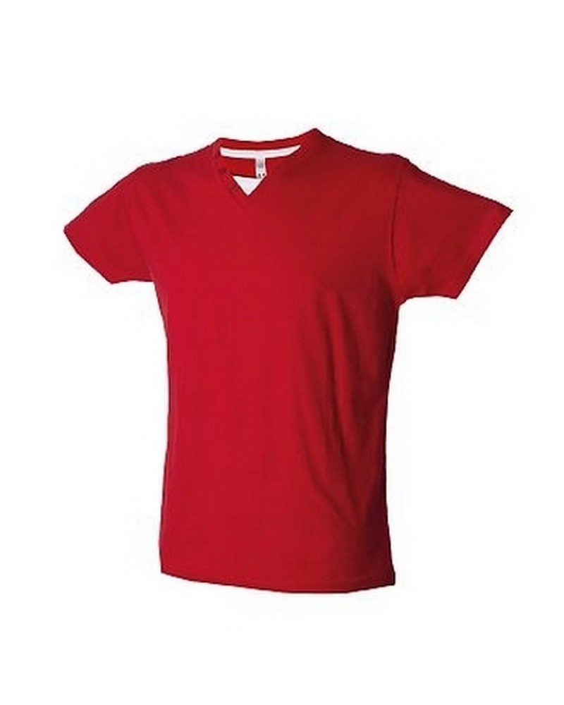 CANNES - T-shirt manica corta collo a V - 150 g/m2