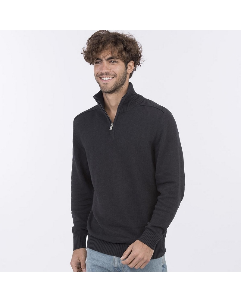 EA061 - Wakhan 1/4 Zip Knit Sweater -  70%C-30%P