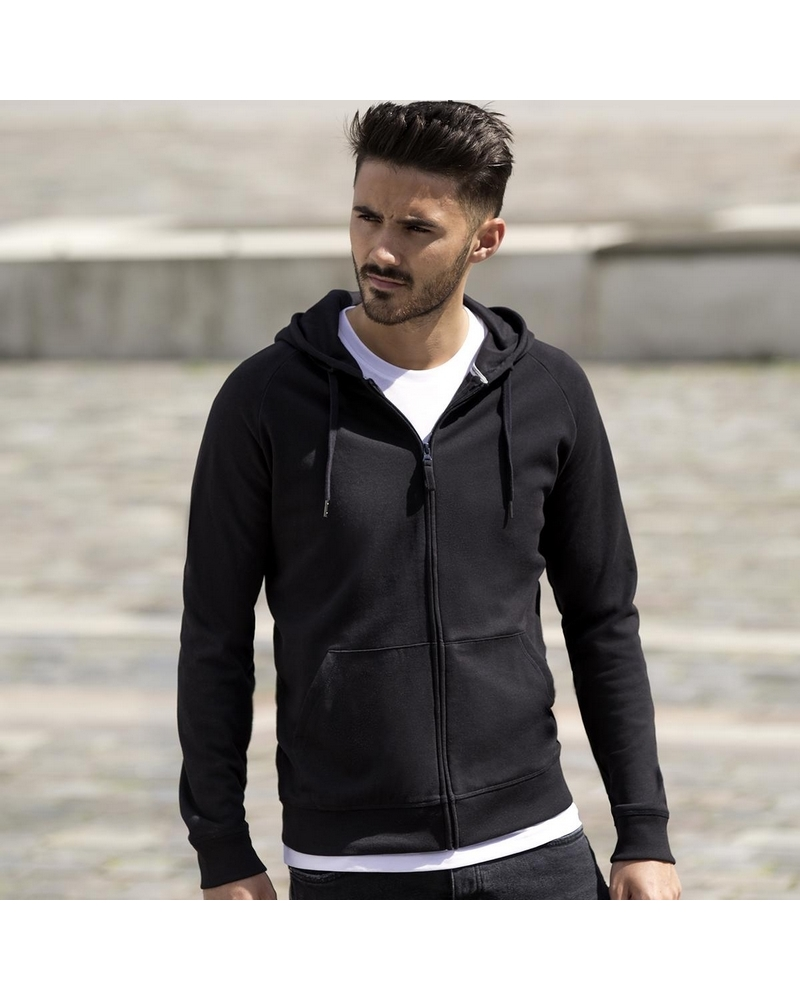 JE284M - Mens Hd Zipped Hood Sweat -  65%P 35%C  - Peso: 250