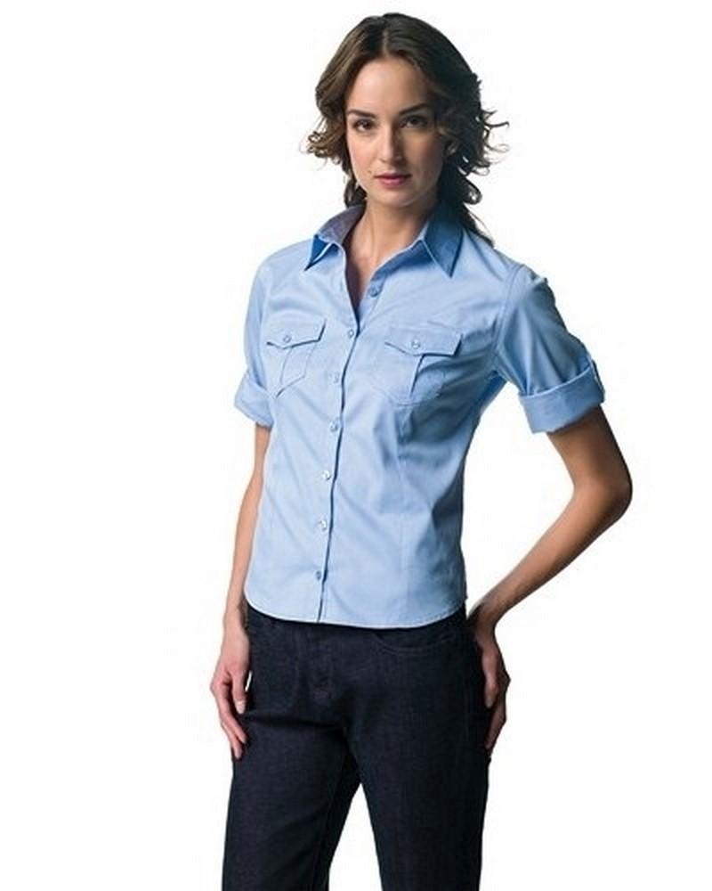 huge selection of c20e1 b364d JE918F - Camicia Donna Manica 3/4 Con Risvolto