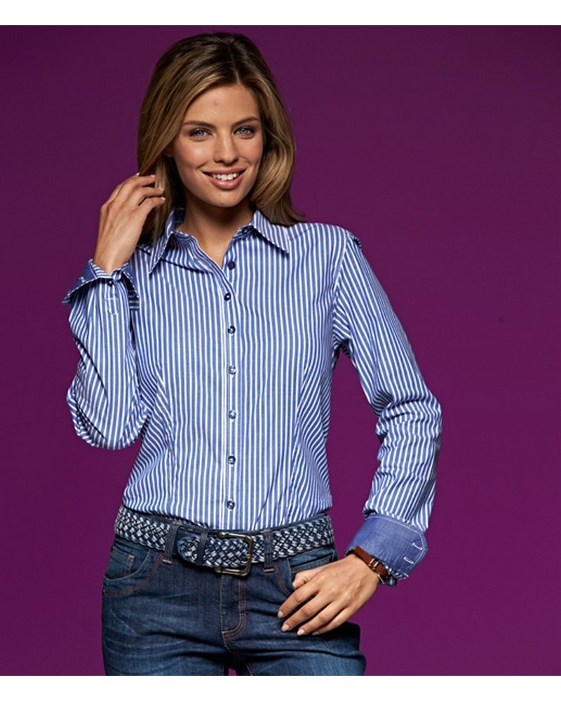 JN631 - Ladies' Stripes Shirt