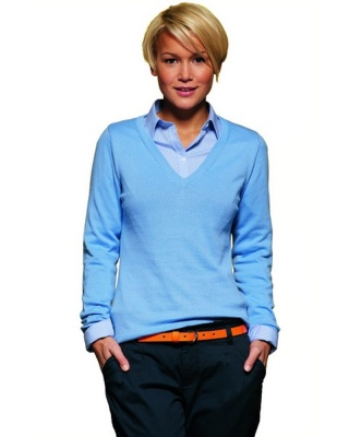 JN658 - Ladies' V-Neck Pullover