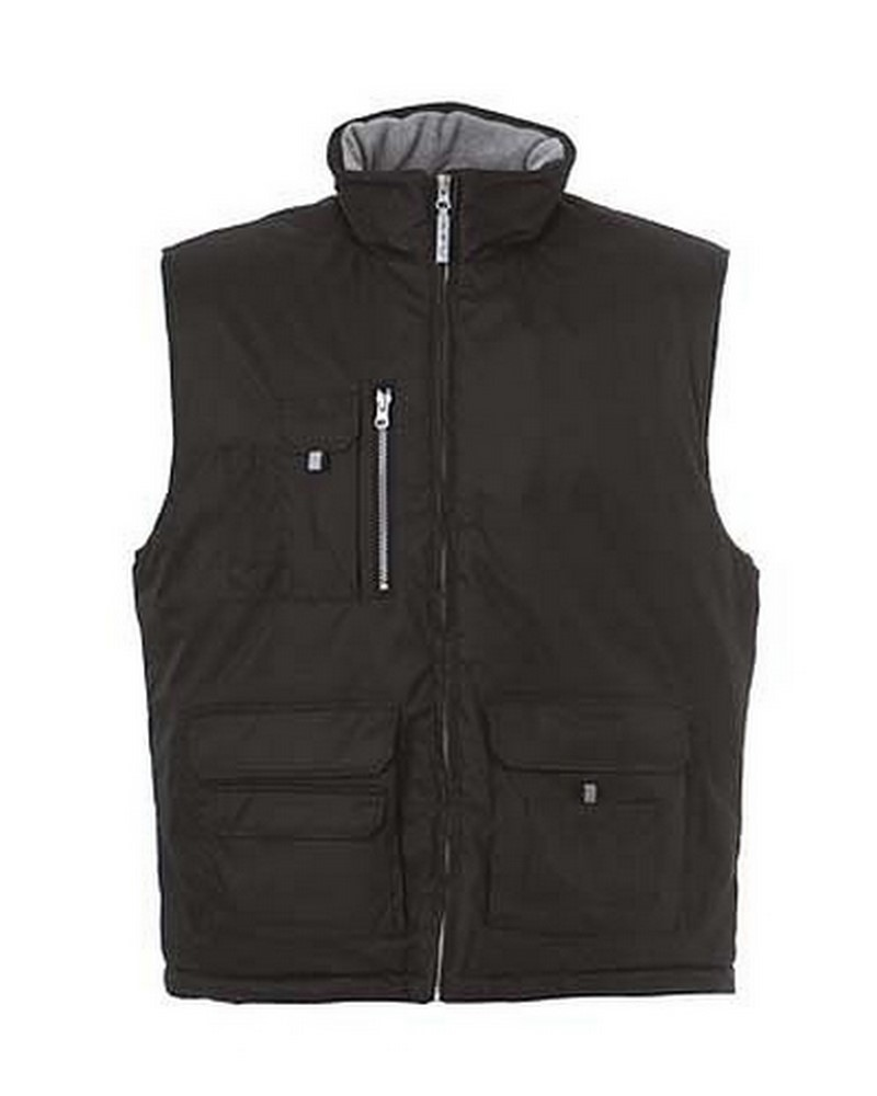 NEW MADRID - Gilet in polyestere pongee con interno in pile