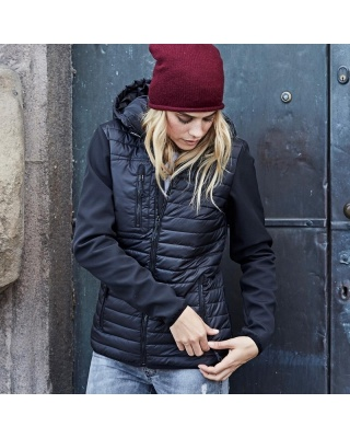 TJ9629 - Ladies' Hooded Crossover Jacket